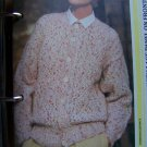 Misses Vintage Knitting Pattern Cardigan Sweater Front Lace Panels USA 1 Cent S&H