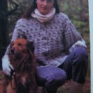 Donegal Tweed Bulky Cardigan Sweater Vintage Crocheted Pattern US 1 Cent S&H