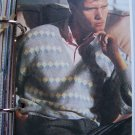 1 Cent USA S&H Man's L XL XXL Vintage Pullover V Neck Long Sleeve Vintage Knitting Pattern
