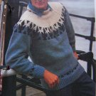 1 Cent USA S&H Mens Pullover Contrasting Yoke Sweater Knitting Pattern