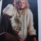 Vintage BIg Flower Pot Mohair Pullover Sweater Vintage KNitting Pattern