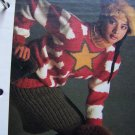 1980's Starburst Pullover Sweater & Ribbed SKirt Knitting Pattern