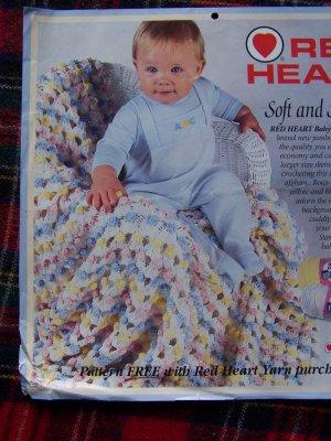 1 Cent USA S&H  Crochet Pattern Baby Blanket Afghan