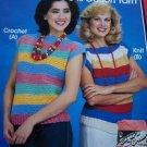 US 1 Cent S&H Vintage 1980's Crochet & Knit Striped Sweaters Patterns