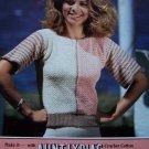 USA S&H 1 Cent Lady's Vintage Crochet Pattern Slipon Sweater