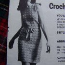 USA 1 Cent S&H Vintage Herrschners Womens Crocheted Sheath Dress