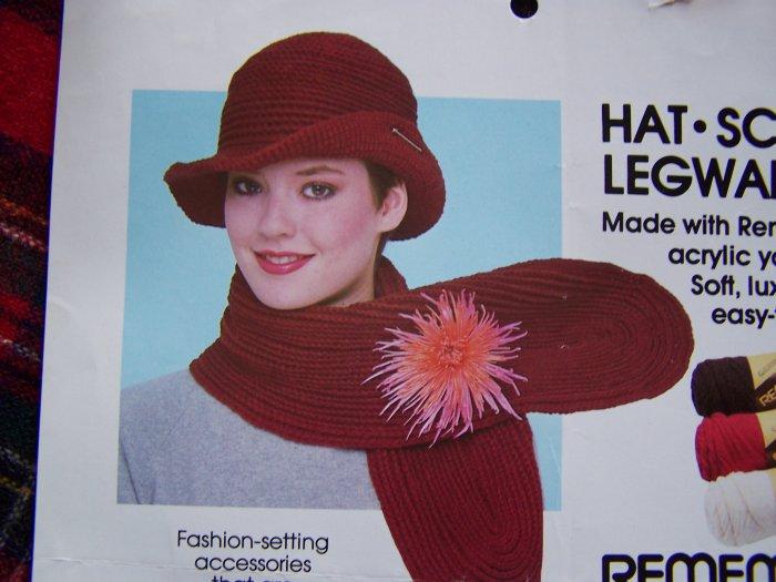 S&H 1 Cent USA Crochet Patterns Hat Scarf Legwarmers Knitting Pattern Leg Warmers
