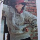 US 1 Cent S&H Big Bulky Cable Medley Pullover Knitted Sweater Pattern