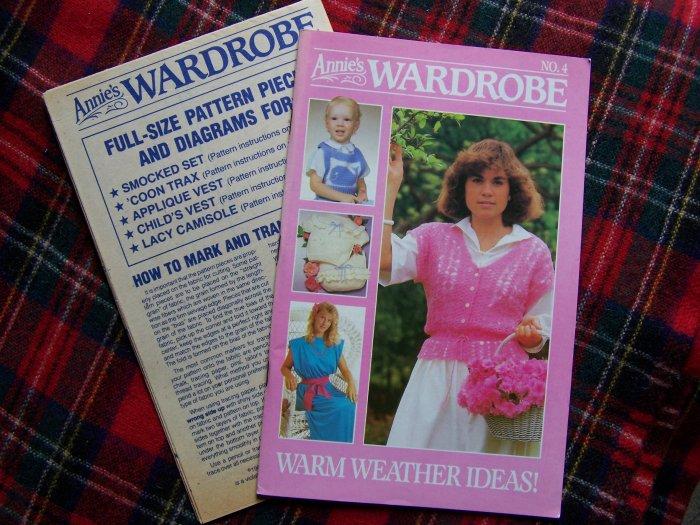 1980's Vintage Annie's Wardrobe Book # 4 With Patterns