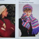 1 Cent USA S&H Vintage Crochet Patterns Womens Beret & Stocking Hat Scarf Gloves