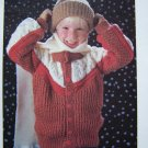 USA 1 Cent S&H Boys Vintage Knitting Pattern Sporty Yoked Cardigan Sweater