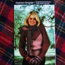 Vintage Womans Knitting Pattern 3 Tone Pullover Sweater Mittens Scarf Set 12 14 16 18