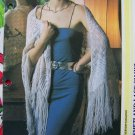 80's Knitting Pattern Shetland Lace Shawl Wrap with Long Fringe