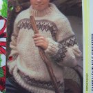 Family Knitting Patterns Vintage Fair Isle Pullover Sweaters XS S M L XL XXL
