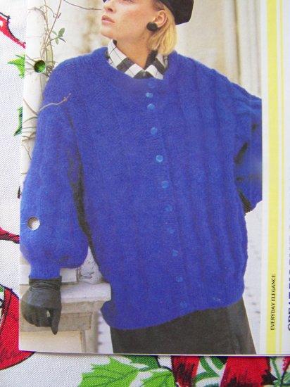 Big Bulky Oversized Ladies Sweater 1980's Knitting Pattern S M L XL XXL