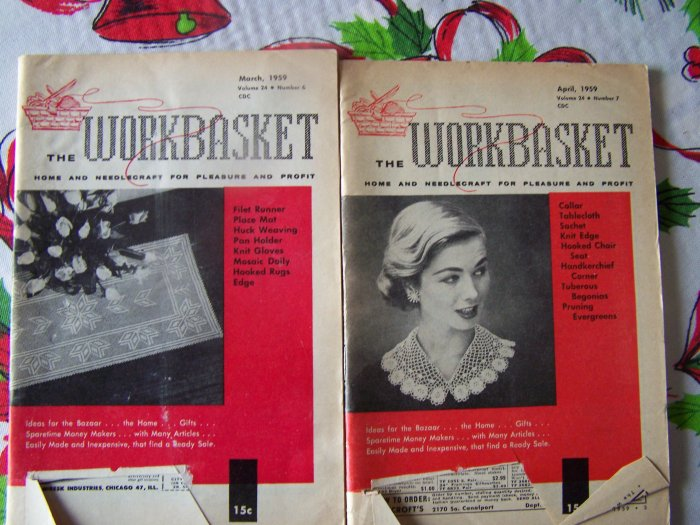 Vintage 1950's Workbasket Pattern Book Crochet Knitting Patterns $3.00 each