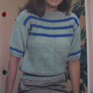 S&H USA 1 Cent Vintage Knitting Pattern Womens Easy T Shirt Sweater