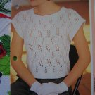 USA 1 Cent S&H  Vintage Knitting Pattern Misses Summer Knitted Top S M L XL