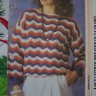 1 Cent USA S&H Womens Vintage Knitting Pattern Wavy Lacy Cotton Sweater