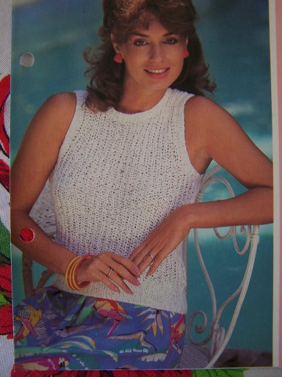 USA 1 Cent S&H Woman's Fisherman's Rib Knit Tank Top Knitting Pattern