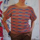 S&H 1 Cent USA Vintage Knit Lady's Wavy Stitch Cotton Summer Top Knitting Pattern