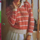 USA 1 Cent S&H  Vintage Lady's Cotton Knit Collar Sweater Knitting Pattern