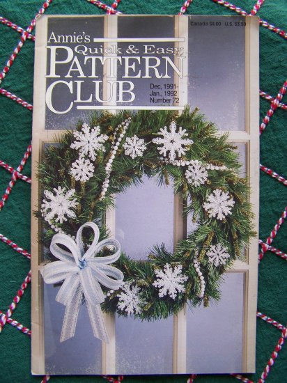 Annie's # 72 QUick & Easy Pattern Club Book Dec Jan 91 92