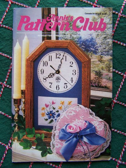 Vintage Annies Pattern Crafts Club Book # 56 Crochet Knit Sewing Plastic C