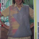 USA 1 Cent S&H Misses Knitting Pattern Fluffy Pastel Sweater Vest