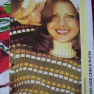 1 Cent S&H USA Vintage Knit Pattern Turtleneck Men Women Sweaters Slip Stitch Check