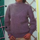 1 Cent USA S&H Vintage Misses Pullover Sweater with V Yoke Knitting Pattern