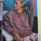 USA 1 Cent S&H Vintage Easy Bat Wing Tweed Sweater with Plain Borders Knitting Pattern