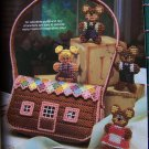 Plastic Canvas Quick & Easy 27 Patterns Goldilocks & 3 Bears Purse Hairstylist Set 21