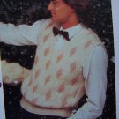1 Cent USA S&H Mens Sweater Diamond V Neck Sweater Vest Knitting Pattern