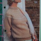 1 Cent USA S&H Vintage Womens Knitting Pattern Round Yoke Sweater with Buds