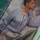 1 Cent USA S&H Vintage Misses Cable Knit Pullover Sweater with Ribbon Knitting Pattern