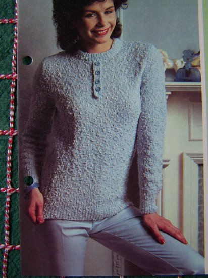 USA 1 Cent S&H Basket Stitch Lady's Sweater Knitting Pattern