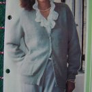 1 Cent USA S&H Easy Vintage Lady's Knitted Cardigan Sweater Knitting Pattern