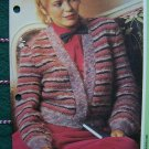 USA Penny S&H Special Vintage Womens Mohair Knitted Bolero Style Jacket Knitting Pattern