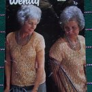 1 Cent USA S&H Retro Wendy Knitting Pattern 1074 Womens Short Sleeve Lacy Cardigan Sweater