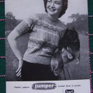 Retro 1960's Knitting Pattern Greenock Pullover Womens Feather Short Sleeve Sweater