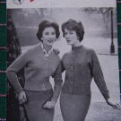 Retro Pin Up Knitting Pattern V Neck Cardigan & Lumber Cardigan Sunbeam Fastnit 222