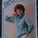 USA 1 Cent S&H Wendy # 2010 Vintage Knitting Pattern Pullover Cowl Neck Bulky Sweater