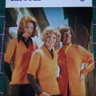 Vintage Argyll 4 Ply Knittings Womens Sweater Jacket Top Knitting Patterns