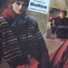Vintage Misses Jaeger Knitting Patterns Retro Vest Sweater hat Scarf Chart Instructions
