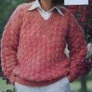Vintage 70's Jaeger Lady's Mohair Lacy Sweater Hand Knitting Pattern Leaflet 4660