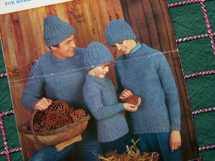 USA 1 Cent S&H Vintage Keynote Knitting Patterns Family Sweaters and Hats 715