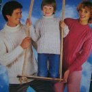 Vintage Knitting Pattern Argyll Family Sweaters Round or Polo Necks