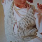 Vintage Sirdar Sexy Open Front Tank Top Knitting Pattern 6765