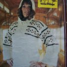 Lady's Vintage Knitting Pattern Fontana Hooded Pullover Hoodie Lace Up Neck Sweater